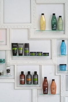 13 Original Salon Decorating Ideas -- some could be cute for a larger bathroom also! ..or tweak the ideas and use elsewhere in the home!