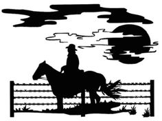Fence Horse Rider Decal MD Western Stickers - Wildlife Decal