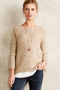 Anthropologie - Shimmered Chevron Pullover