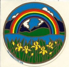 Vintage 80's Illuminations Rainbow Sticker by Stuckonstickers