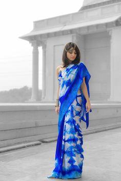 Tie n Dye Saree by Pallav Chaudhary