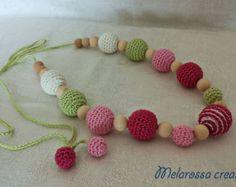 Poppy necklace with crochet children by MelarossaCreazioni on Etsy