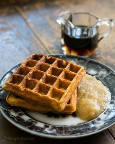 Pumpkin Waffles on Simply Recipes