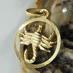 Sternzeichen, Skorpion, 9Kt GOLD accessorize24-430454