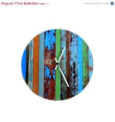 New Year  Sale Rustic Chic Wall Clock  Barn Wood by Shannybeebo