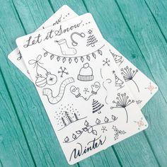 Diese handgezeichneten Winter Doodles sind die perfekte Lösung für Ihre Kugel-Journal oder Planers täglichen Seiten ein wenig Flair hinzufügen. Sie passen Ihr Thema und fügen Sie etwas Spaß auf Ihre Seiten in Farbe! Jeder Aufkleber-Bogen ist gedruckt auf Matte Aufkleber Papier (für leichte Färbung) und misst 6,75 x 4,25 . Die perfekte Größe für Zettel in die Tasche der Bullet-Journal, Lieblings-Planer oder Notebook. Individuelle Aufkleber sind unterschiedlich groß und Kuss schneiden leicht…