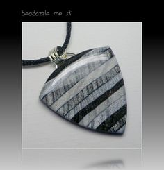 Mica Shift Shades of Gray Statement Necklace, polymer clay jewelry.  via Etsy.