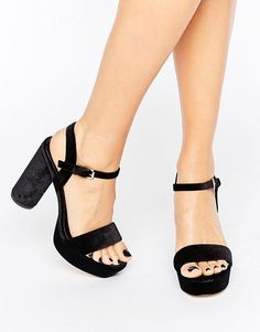 New Look   New Look Velvet Platform Heel