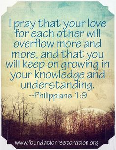 I pray for love and understanding