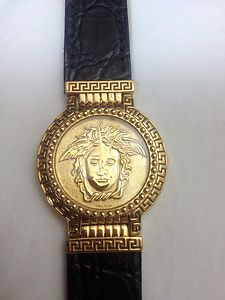 Jewelry & Watches Watches, Parts & Accessories Trustful Authentic Gianni Versace Vintage Signature Medusa Gold Plated Quartz Watch