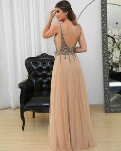 Tulle v-neck long prom dress,evening dress with beads Item Code: Long Prom Dresses Uk, Evening Dresses Uk, Sequin Prom Dresses, Beaded Prom Dress, Beautiful Prom Dresses, Mermaid Prom Dresses, Formal Dresses, Dress Long, Vestidos Instagram