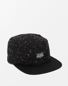 Image 1 of ASOS 5 Panel Cap In Black Nep Fabric Latest Outfits 1698ac940f4