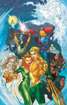 Aquaman, Mera, and The Others