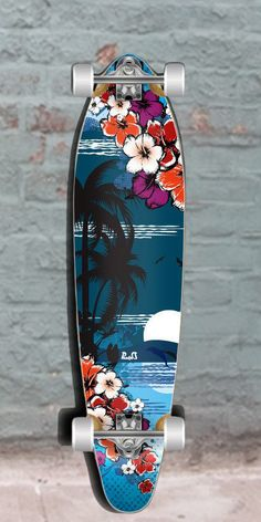 Longboards USA - Graphic Kicktail Longboard - Tropical Night - 40 inch from Punked - Complete, $96.99 (http://longboardsusa.com/longboards/beginners-longboards/graphic-kicktail-longboard-tropical-night-40-inch-from-punked-complete/)