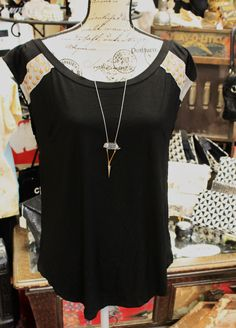 Black sleeveless top with studs $27.95  S,M,L