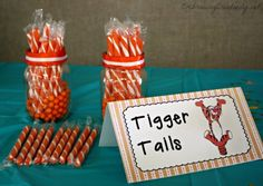 Winnie the Pooh Baby Shower - Tigger Tails - and so many more fun ideas!