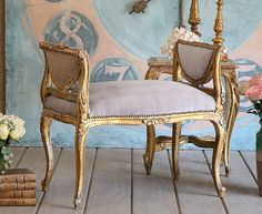 French style banqette --don't mean to self promote...it already sold, but just love the color!