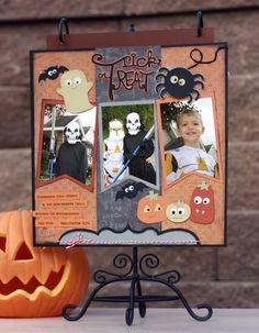 Amy's layout using SPOOKY CUTIES COLLECTION!.  How adorable!