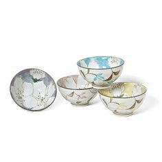 Floral Rice Bowl Set Of 4, $26, now featured on Fab.