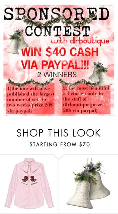 """""""WIN $40 CASH via Paypal !"""" by merrygorounds ❤ liked on Polyvore featuring Gucci, National Tree Company, Improvements, contest, polyvoreeditorial, dlrboutique and besttrend2016"""