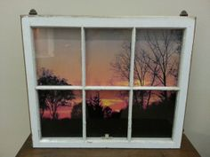 Six Pane Window Frame Scene Decoration by PlainSimpleandGood, $100.00