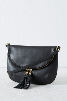 Bags & Purses | Black LEATHER ZIP AROUND CROSSBODY | Warehouse