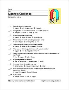 Free Printable Magnet Word Games: Challenge