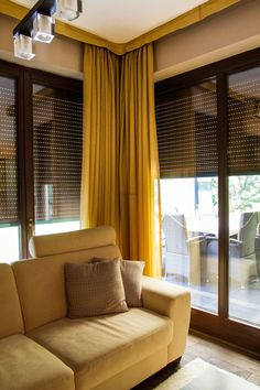 Living Room Blinds, Curtains, Home Decor, Blinds, Decoration Home, Room Decor, Draping, Home Interior Design, Picture Window Treatments