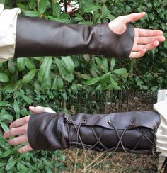 Leather Archery Arm Guard Medieval Ranger by FolkOfTheWood on Etsy
