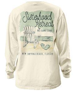 1001 Phi Sigma Sigma Beach Weekend Tshirt | GreekShirts