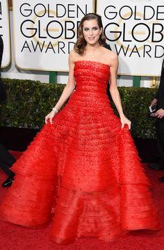 Inspiração | Golden Globe Awards 2015 - Allison Williams em Armani Privé