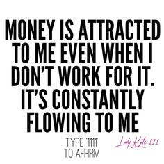 Positive Affirmations Quotes, Wealth Affirmations, Affirmation Quotes, Positive Quotes, Positive Vibes, Law Of Attraction Money, Law Of Attraction Quotes, Manifestation Law Of Attraction, Law Of Attraction Affirmations