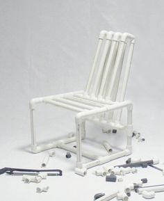 PVC pipes Chair by Ahmed Bedair  sc 1 st  Pinterest & diy pvc furniture. diy pvc pipe furniture would be great for a patio ...