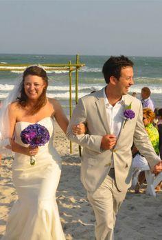 2014 white beach wedding attire, the beach wedding groom suit with purple flowers.