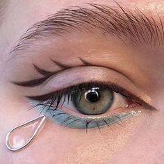 Aesthetic Makeup Looks Cute Edgy Makeup, Eye Makeup Art, No Eyeliner Makeup, Cute Makeup, Pretty Makeup, Makeup Inspo, Makeup Ideas, Clown Makeup, Prom Makeup