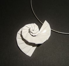 Twin arrowhead by michael lafosse joyas origami pinterest white spirals origami pendant necklace 2100 via etsy mozeypictures Image collections