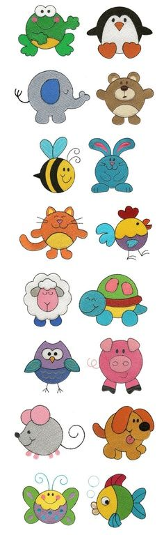 Fieltrolocuras: Animalitos de fieltro para broches o llaveros muy sencillos. Best Picture For applique couloir For Your Taste You are looking for something, and it is going to tell you exactly what yo Applique Patterns, Applique Designs, Embroidery Applique, Machine Embroidery Designs, Applique Ideas, Embroidery Fashion, Embroidery Thread, Motifs D'appliques, Felt Animals