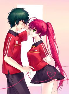 I ship Chiho and Maou butttttttt this is still cute too