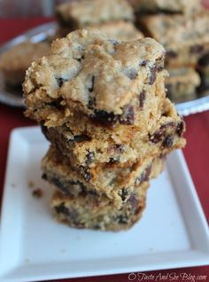 Oatmeal Raisin Cookie Bars #recipe #TimetoBelieve #CleverGirls