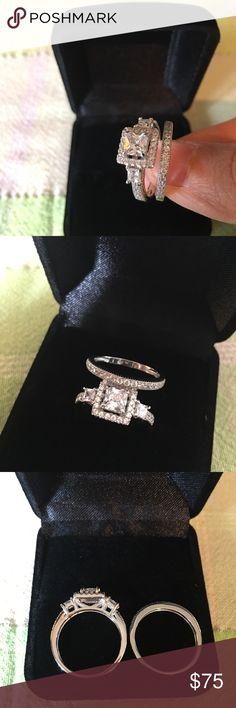 Real 925 sterling silver engagement promise ring Real 925 sterling