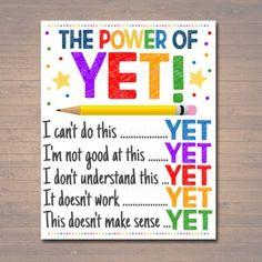 Growth Mindset Classroom, Growth Mindset Posters, Growth Mindset Display, Dweck Growth Mindset, Growth Mindset Activities, Counselor Office, School Counseling, Counseling Quotes, Counseling Activities