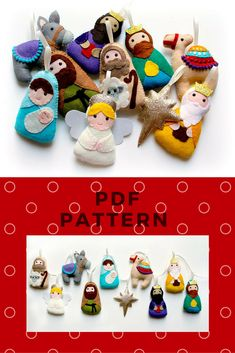 PDF pattern for felt Nativity Garland, full instructions and templates, Digital Pattern, Instant Download, Christmas garland, felt kit, DIY #affiliatelink