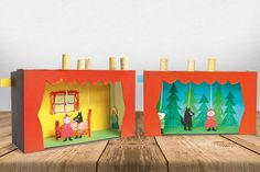 Puppentheater selber machen Puppentheater selbstgemacht Mehr The post Puppentheater selber machen appeared first on Paper Diy. Paper Crafts For Kids, Diy Paper, Diy And Crafts, Castle Theme Classroom, Puppets For Kids, Punch And Judy, Paper Games, Cardboard Crafts, Diy Box