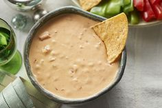This Cheesy Salsa Dip is an all-time favourite. Serve it with assorted crackers, veggie dippers or tortilla chips for a crowd-pleasing appetizer. Dip Recipes, Appetizer Recipes, Tortillas, Salsa, Bruschetta Recipe, Finger Food Appetizers, Finger Foods, Nutrition, Cooking Instructions