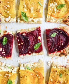 beet, goat cheese & honey tart I howsweeteats.com