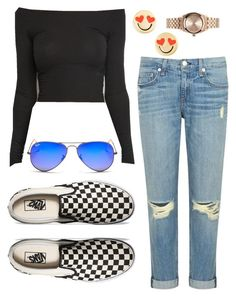 """""""Untitled #67"""" by maggiejanexo on Polyvore featuring rag & bone/JEAN, Vans, Kate Spade, Nixon and Ray-Ban"""
