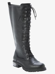 484348b5e05d Finally found wide calf boots!!! Lace-Up Tall  Combat  Boots