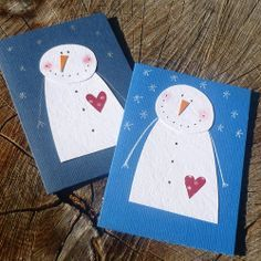 sněhuláci Christmas Arts And Crafts, Winter Crafts For Kids, Preschool Christmas, Xmas Crafts, Christmas Tag, Handmade Christmas, Cool Cards, Homemade Cards, Holiday Cards
