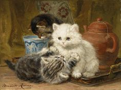 """Afternoon Tea"" by Henriette Ronner-Knip"
