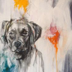 A lovely picture of a Labrador Retriever.  #art  #puppied